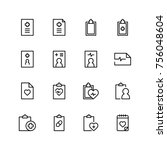 medical blank icon set.... | Shutterstock .eps vector #756048604