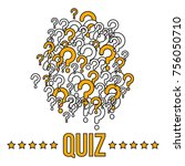 quiz banner or cover template... | Shutterstock .eps vector #756050710