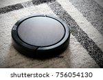 robotic vacuum cleaner working...   Shutterstock . vector #756054130