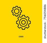 cogwheel and development icon ...