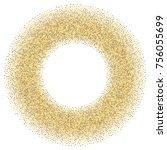 gold glitter round frame.... | Shutterstock .eps vector #756055699