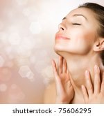 beautiful healthy woman... | Shutterstock . vector #75606295