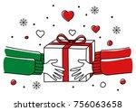 line art illustration of human... | Shutterstock .eps vector #756063658