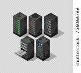 hardware isometric equipment.... | Shutterstock .eps vector #756066766