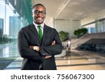 african american bank manager... | Shutterstock . vector #756067300