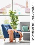 design of modern living room...   Shutterstock . vector #756069064