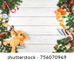 christmas decoration in the... | Shutterstock . vector #756070969