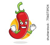 chili pepper character design... | Shutterstock .eps vector #756073924