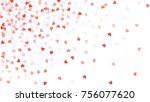 beautiful confetti hearts... | Shutterstock .eps vector #756077620