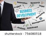 business development concept.... | Shutterstock . vector #756080518