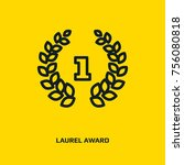 circular laurel foliate and... | Shutterstock .eps vector #756080818