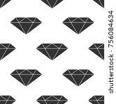 diamond sign icon seamless... | Shutterstock . vector #756084634