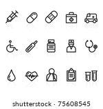 medicine icons | Shutterstock .eps vector #75608545
