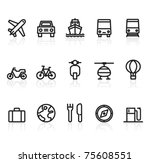 travel and transport icons | Shutterstock .eps vector #75608551