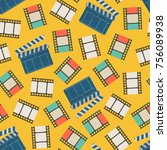 movie film strip and... | Shutterstock .eps vector #756089938
