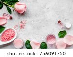 natural organic cosmetics with... | Shutterstock . vector #756091750
