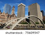 Stock photo toronto city hall 75609547