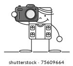 cartoon photographer | Shutterstock .eps vector #75609664