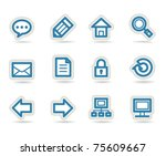 computer and website icons | Shutterstock .eps vector #75609667