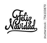 feliz navidad   badge with... | Shutterstock .eps vector #756103870