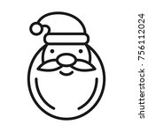 santa claus icon. christmas and ... | Shutterstock .eps vector #756112024