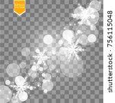 vector falling snow effect... | Shutterstock .eps vector #756115048