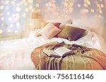 coziness  comfort  interior and ... | Shutterstock . vector #756116146
