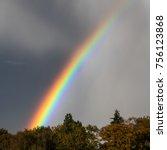 rainbow in the autumn | Shutterstock . vector #756123868