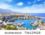 beautiful view of the new port... | Shutterstock . vector #756129028