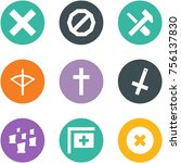 origami corner style icon set   ... | Shutterstock .eps vector #756137830