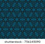 minimalist geometric seamless... | Shutterstock . vector #756145090
