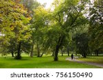 path in a park | Shutterstock . vector #756150490