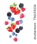 berries on white background | Shutterstock . vector #756153226