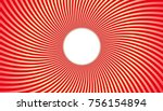 graphic beams vortex with an... | Shutterstock .eps vector #756154894