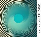 striped open vortex in blue... | Shutterstock .eps vector #756154900