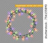 christmas lights isolated... | Shutterstock .eps vector #756155890