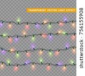 christmas lights isolated...   Shutterstock .eps vector #756155908