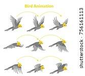 animation parrot flies. sprite... | Shutterstock .eps vector #756161113
