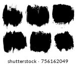 collection or set of artistic... | Shutterstock . vector #756162049