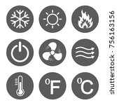 set of conditioning icons.... | Shutterstock .eps vector #756163156