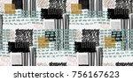 memphis seamless  pattern in... | Shutterstock .eps vector #756167623