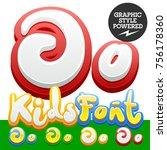 vector hand written funny... | Shutterstock .eps vector #756178360