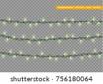 garlands color green isolated... | Shutterstock .eps vector #756180064