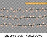 garlands color orange isolated... | Shutterstock .eps vector #756180070