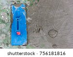 tile work  prepare the surface...   Shutterstock . vector #756181816