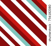 seamless pattern in christmas... | Shutterstock .eps vector #756182080