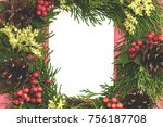 christmas background or xmas... | Shutterstock . vector #756187708