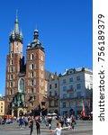 krakow poland 09 19 17  church... | Shutterstock . vector #756189379