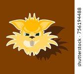 paper sticker on theme evil... | Shutterstock .eps vector #756194488