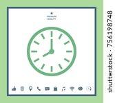 watch icon symbol | Shutterstock .eps vector #756198748